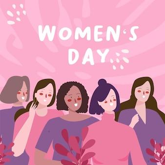 Vrouwendag illustratie concept in flat