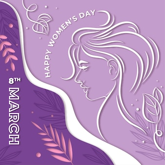 Vrouwendag in papierstijl behang