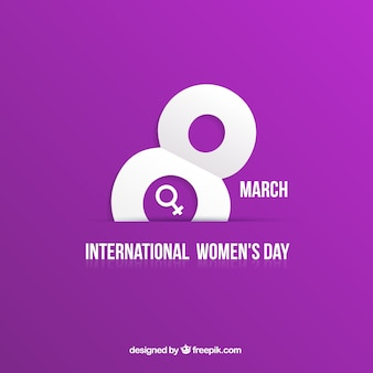 Vrouwendag kaart in paarse achtergrond