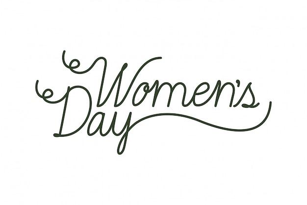 Vrouwendag label geïsoleerd pictogram