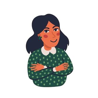 Vrouwenportret met gekruiste handen