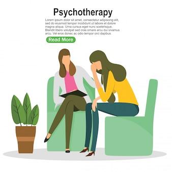 Vrouwenpsycholoog en vrouwenpatiënt