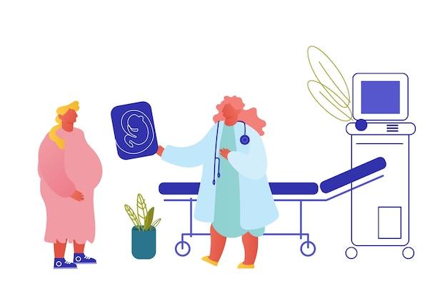 Vruchtbaarheid, zwangerschap bevalling vrouwelijke gezondheidsconcept.