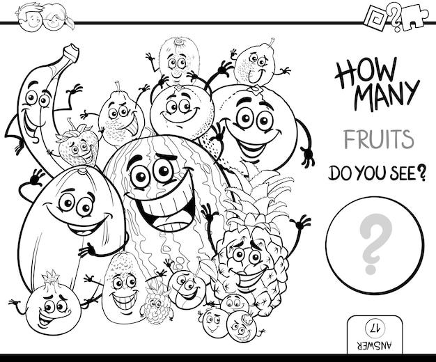 Vruchten tellen kleurboek