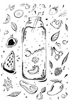 Vruchtensap doodle