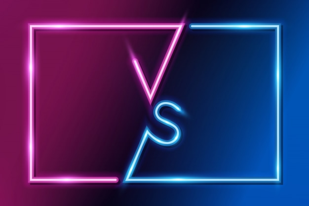 Vs letters versus banner concurrerend