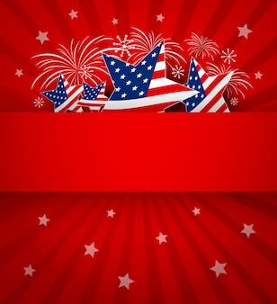Vs of amerika banner achtergrond
