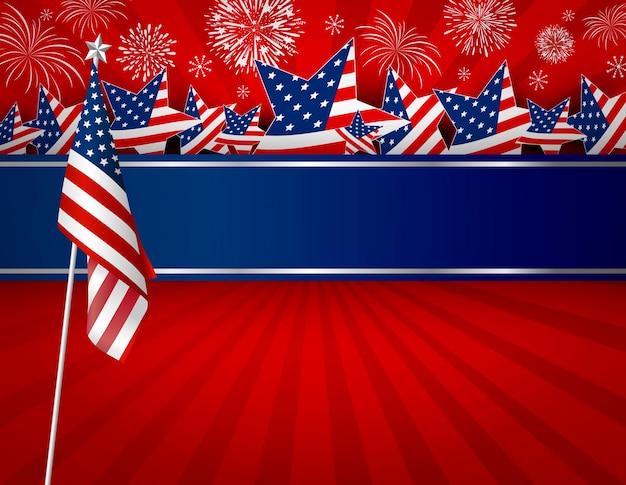 Vs of amerika vlag banner achtergrond