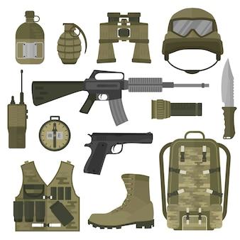 Vs of nato troepen militaire leger symbolen