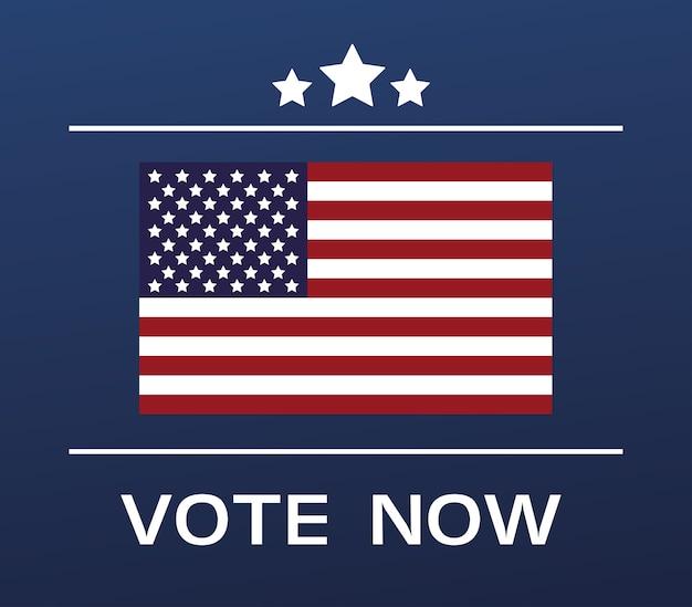 Vs verkiezingen dag poster met vlag en sterren