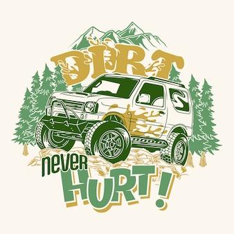 Vuil doet nooit 4x4 off-road pijn en zegt citaten