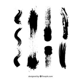 Vuile slagen inkt textuur penseel zwarte aquarel