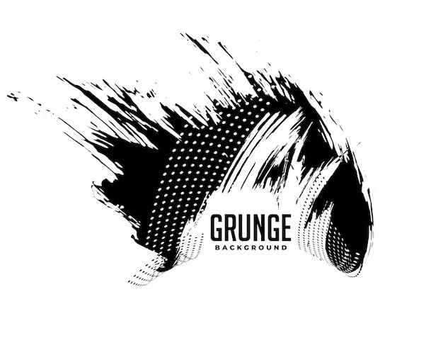 Vuile zwarte ploetert grunge textuur achtergrondontwerp