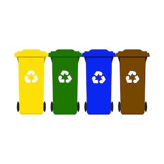 Vuilnisbakken voor recycling