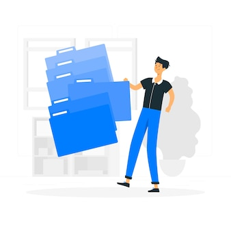 Vullen systeem illustratie concept