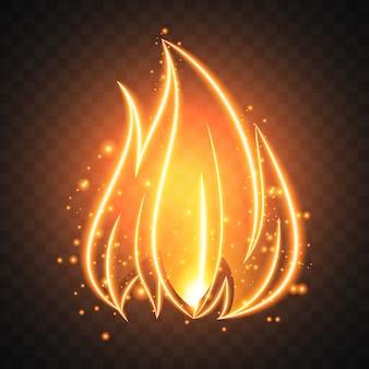 Vuur achtergrond ontwerp