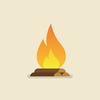 Vuur branden met hout