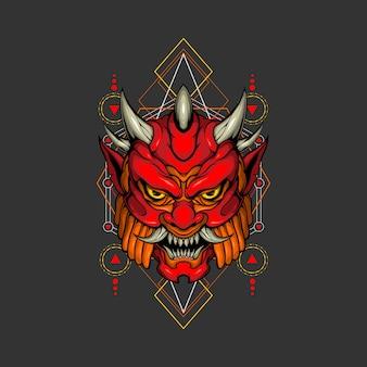 Vuur demon heilige geometrie