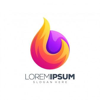 Vuur logo ontwerp