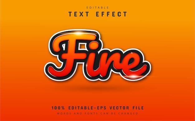 Vuur teksteffect
