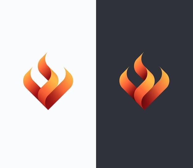 Vuur, vlam concept, vector geïsoleerd conceptueel symbool, logo, logotype.