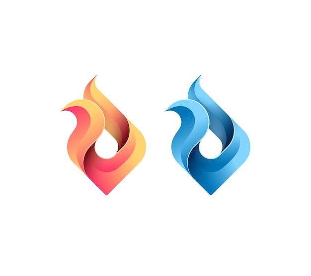 Vuur, vlam, gas, energieconcept, vector geïsoleerd conceptueel symbool, logo, logotype.
