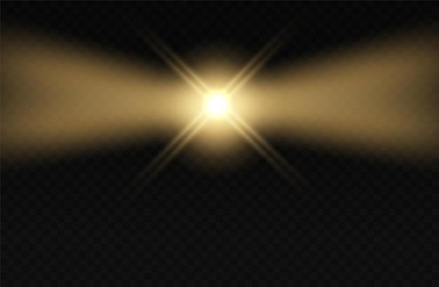 Vuurtoren licht knipperend effect lamp mist nachtstralen