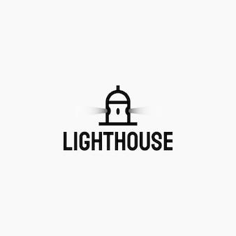 Vuurtoren logo ontwerp. logo ontwerpsjabloon.