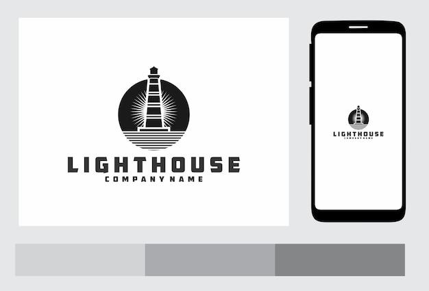 Vuurtoren logo ontwerp