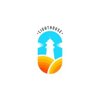 Vuurtoren logo sjabloon