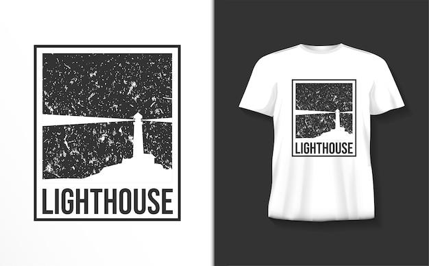 Vuurtoren typografie t-shirt