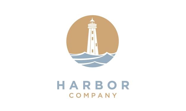 Vuurtoren / zoeklicht logo ontwerp