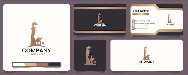 Vuurtorens, markeringen, pictogrammen, voor bedrijven in de maritieme sector, inspiratie voor logo-ontwerp