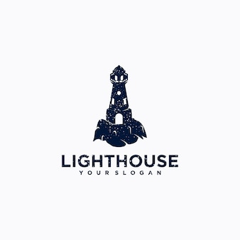 Vuurtorensjabloon, inspiratie voor logo-ontwerp