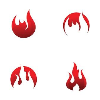 Vuurvlam logo vector ontwerpsjabloon