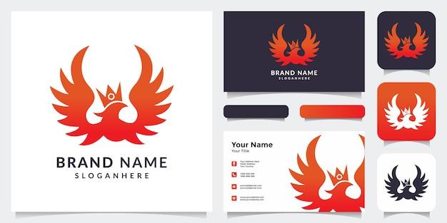 Vuurvogel logo met visitekaartje