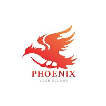 Vuurvogel phoenix logo-ontwerp