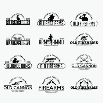 Vuurwapenetiketten en logo
