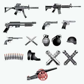 Vuurwapens vector