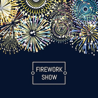 Vuurwerk achtergrond afbeelding met plaats voor tekst