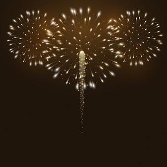 Vuurwerk achtergrond ontwerp