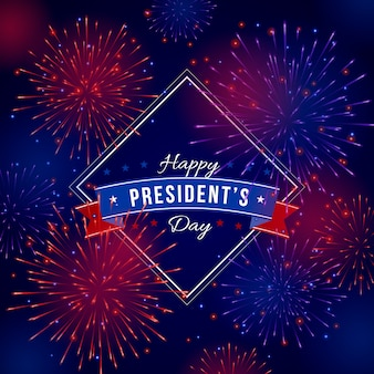 Vuurwerk achtergrond president's day