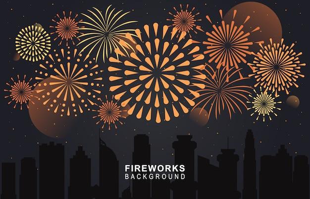 Vuurwerk donkere achtergrond