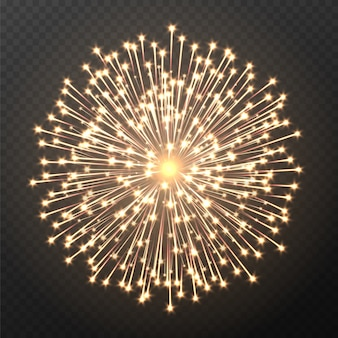 Vuurwerk explosie, licht vuurwerk effect geïsoleerd