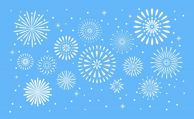 Vuurwerk explosie. viering fuego vuur of vuurwerk vakantie