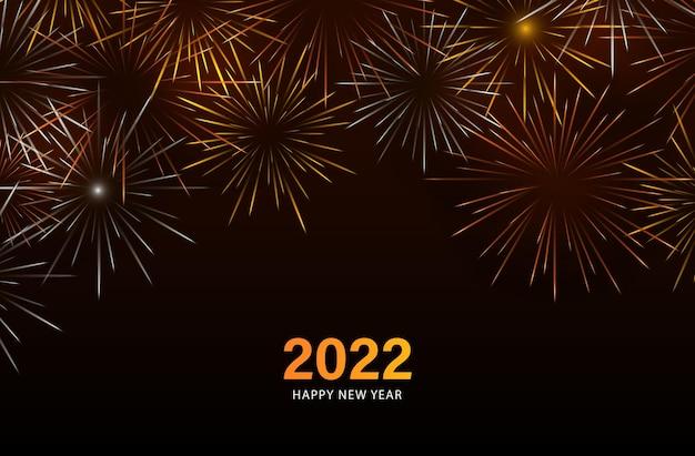 Vuurwerk gelukkig nieuwjaar 2022