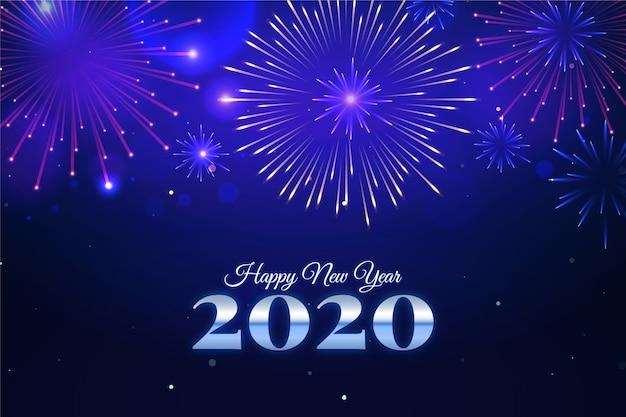 Vuurwerk nieuwe jaar 2020 achtergrond