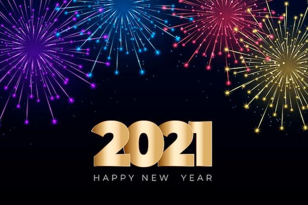 Vuurwerk nieuwjaar 2021 achtergrond