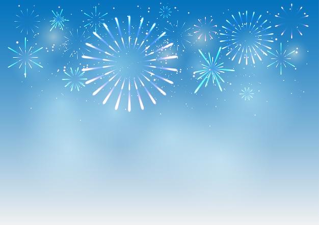 Vuurwerk op nieuwjaarsdag achtergrond