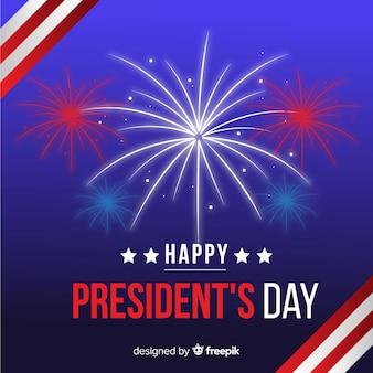 Vuurwerk president's day achtergrond
